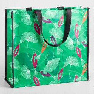 Large Green Koi Fish Tote Bag