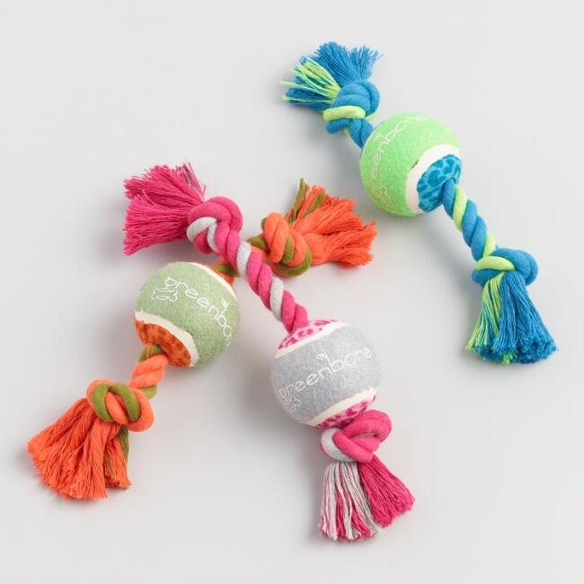Greenbone Pull and Play Pet Toy Set of 3