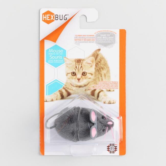 Gray Mouse Robotic Cat Toy