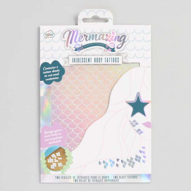 Mermaid Scale Temporary Body Tattoos 2 Pack