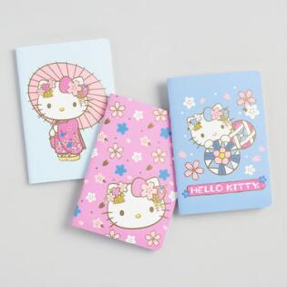 fb0b8e085727 Mini Hello Kitty Journals Set of 3