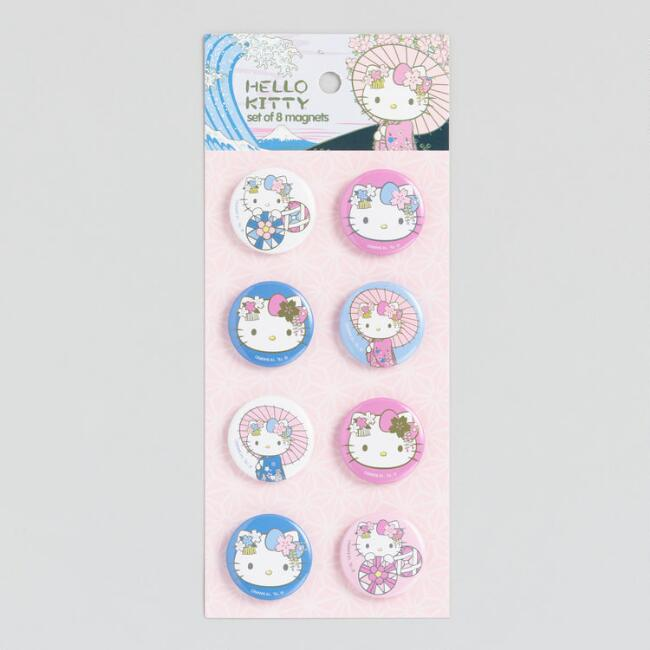 Hello Kitty Magnets Set Of 8 by World Market
