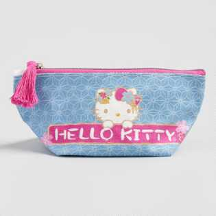 Blue and Pink Hello Kitty Pencil Case