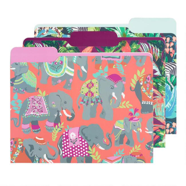 Radiant Jungle File Folders Set of 6
