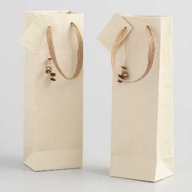 Natural Woven Handmade Wine Bags Set of 2