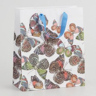 b5ffe6524b88 Large Multicolored Butterfly Gift Bag