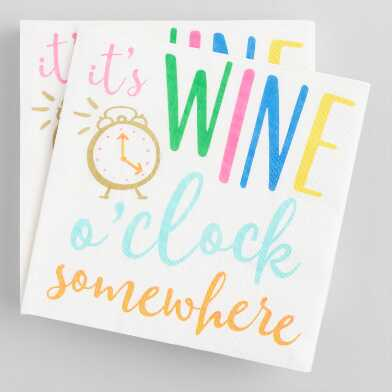It's Wine O'Clock Somewhere Cocktail Napkins 20 Count