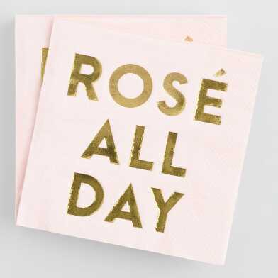 Rosé All Day Cocktail Napkins 20 Count