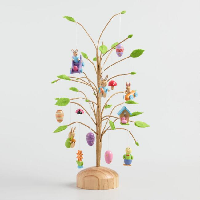 Mini Easter Ornaments and Tree Collection