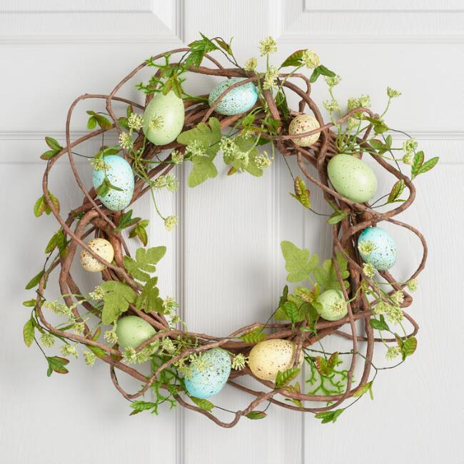 Speckled Egg and Vine Wreath
