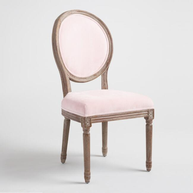 Blush Velvet Paige Round Back Dining Chairs Set of 2