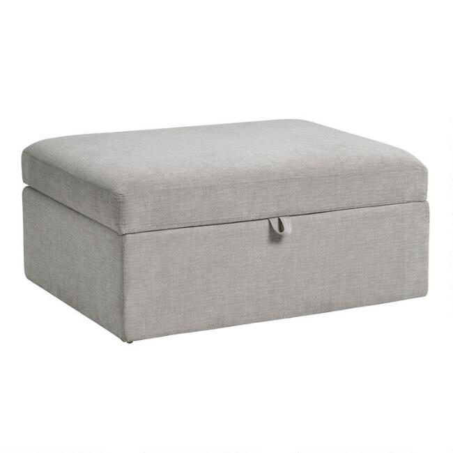 Gray Emmett Modular Sectional Storage Ottoman