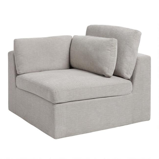 Gray Emmett Modular Sectional End Chair