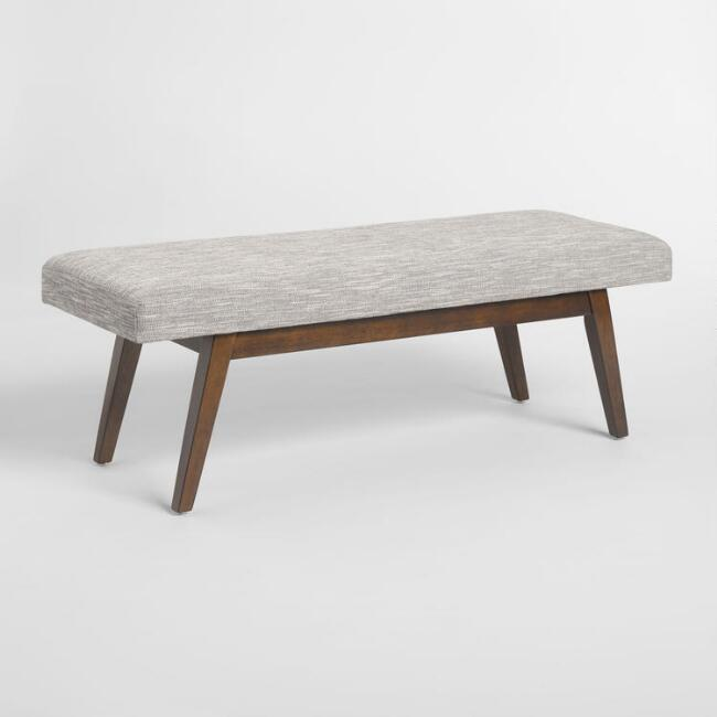 Gray Tweed Xander Bench