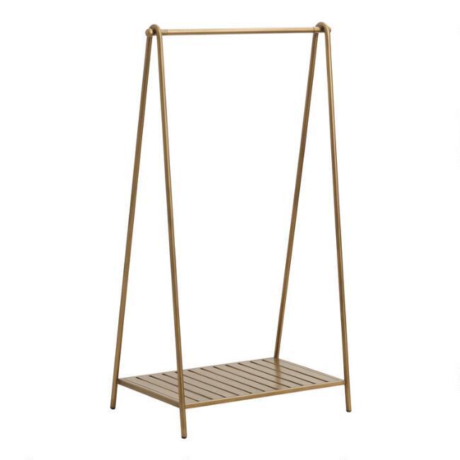 Gold Metal Clothing Rack