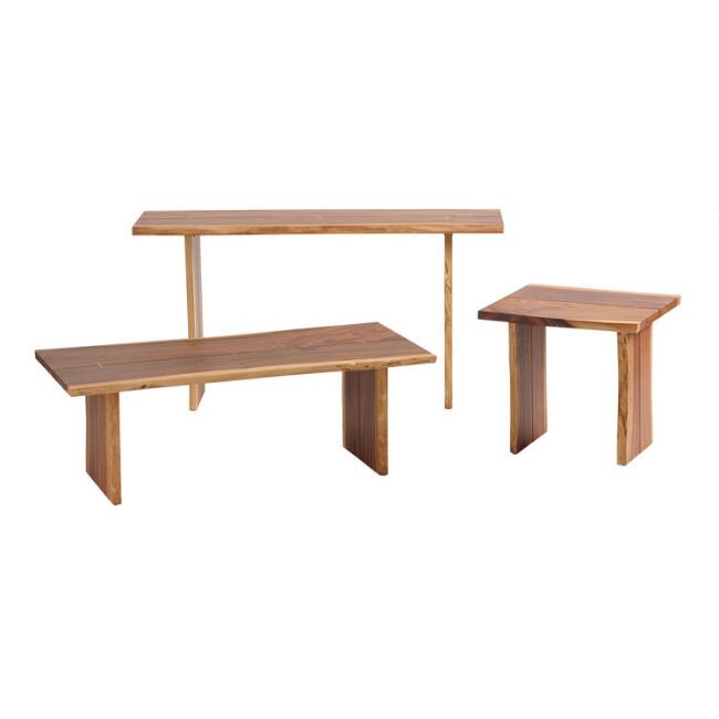 Live Edge Wood Sansur Accent Table Collection