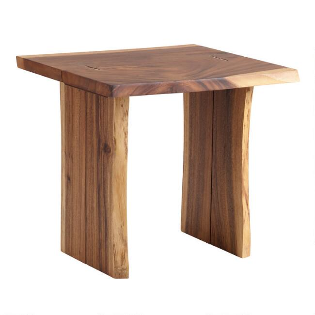 Live Edge Wood Sansur End Table