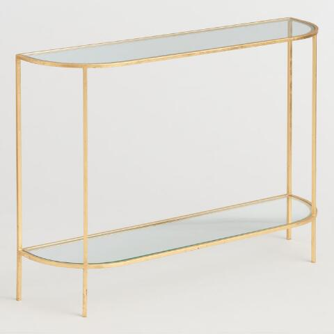 Gl And Gold Leaf Rosalyn Console Table
