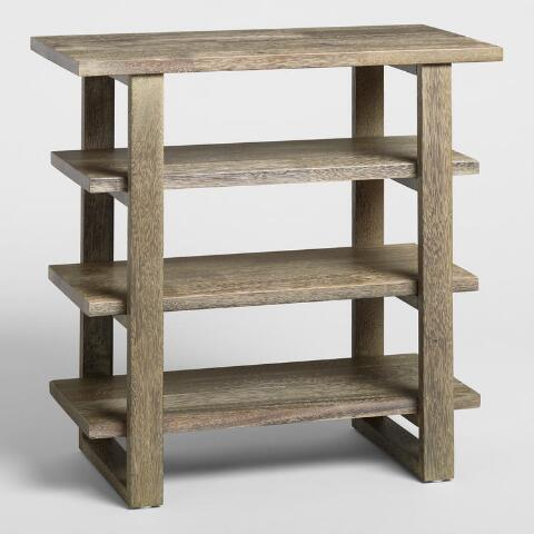 Astonishing Graywashed Sadler Shelf Table World Market Lamtechconsult Wood Chair Design Ideas Lamtechconsultcom