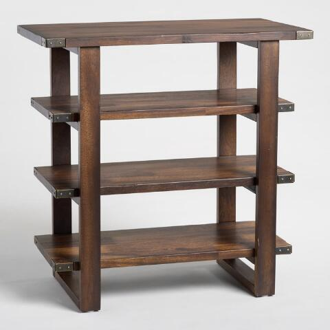Fabulous Graywashed Sadler Shelf Table World Market Lamtechconsult Wood Chair Design Ideas Lamtechconsultcom