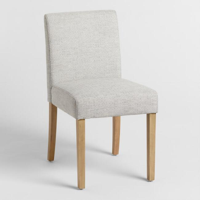 Gray Fletcher Upholstered Dining Chairs Set of 2