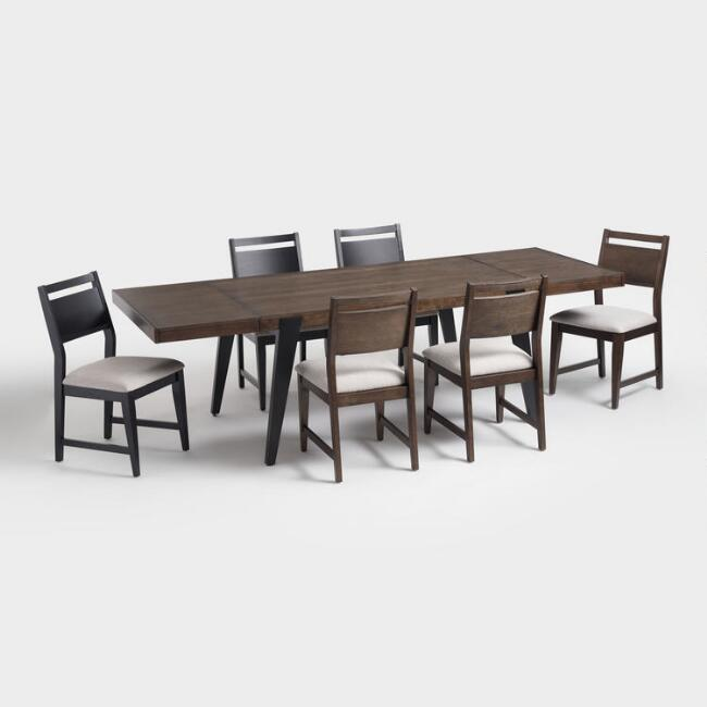 Black and Brown Wood Dominick Dining Collection