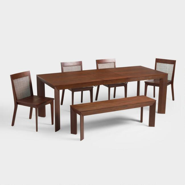 Mahogany Brown Wood Cade Dining Collection