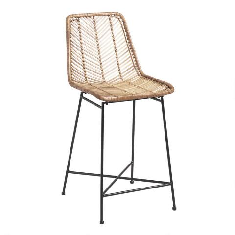 Brilliant Natural Wicker Loren Counter Stool Gmtry Best Dining Table And Chair Ideas Images Gmtryco