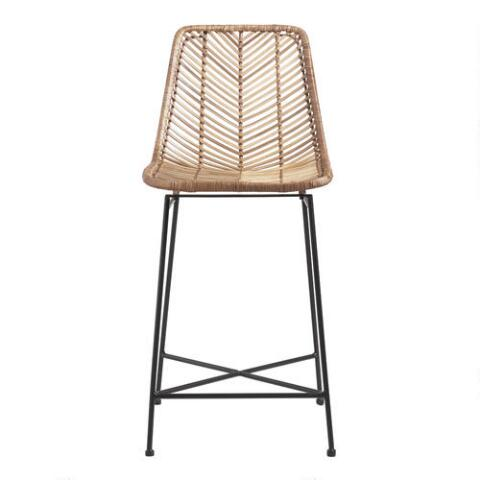 Awesome Natural Wicker Loren Counter Stool Gmtry Best Dining Table And Chair Ideas Images Gmtryco