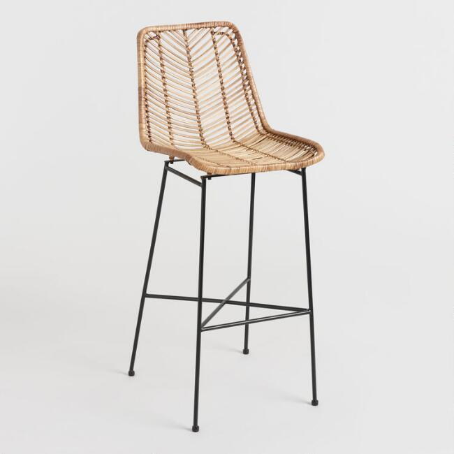 Natural Wicker Loren Bar Stool