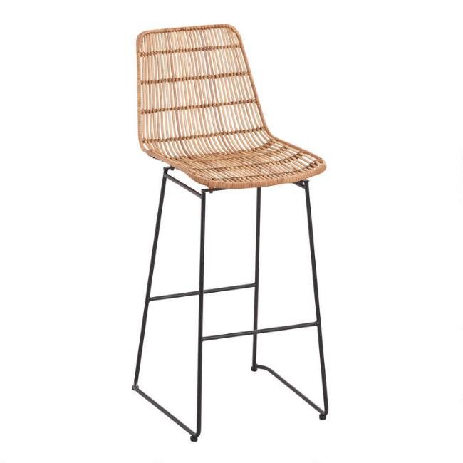 Natural Wicker Emily Barstool