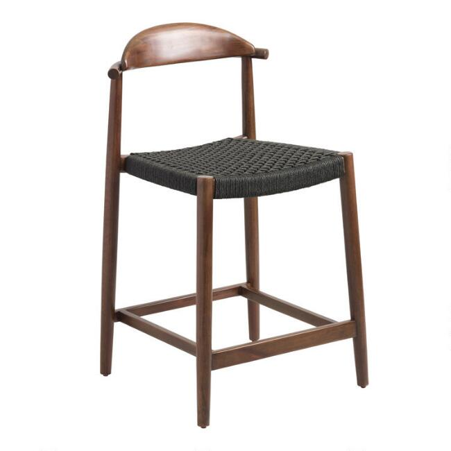Surprising Charcoal Gray Woven Aimee Counter Stool Gmtry Best Dining Table And Chair Ideas Images Gmtryco