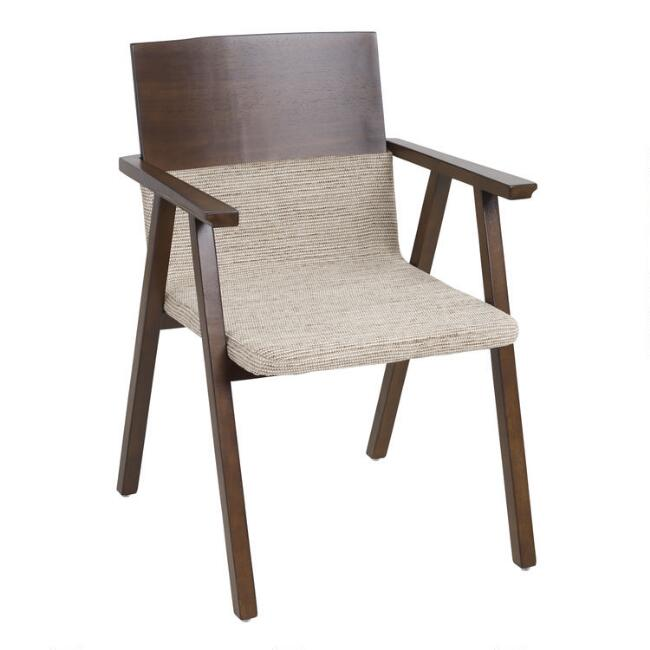 Espresso Brown Analise Upholstered Armchair