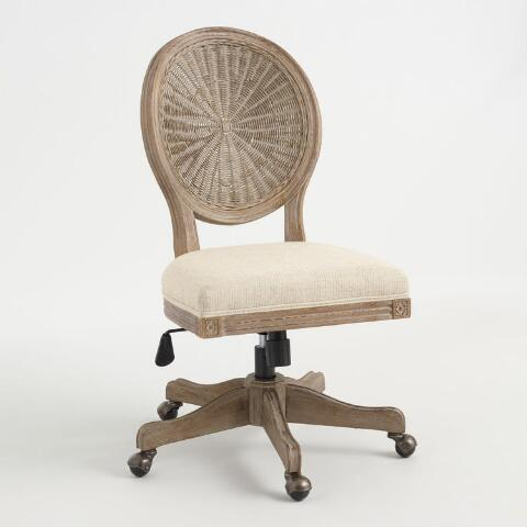 Natural Cane Round Back Paige Office Chair Previous V7 V1