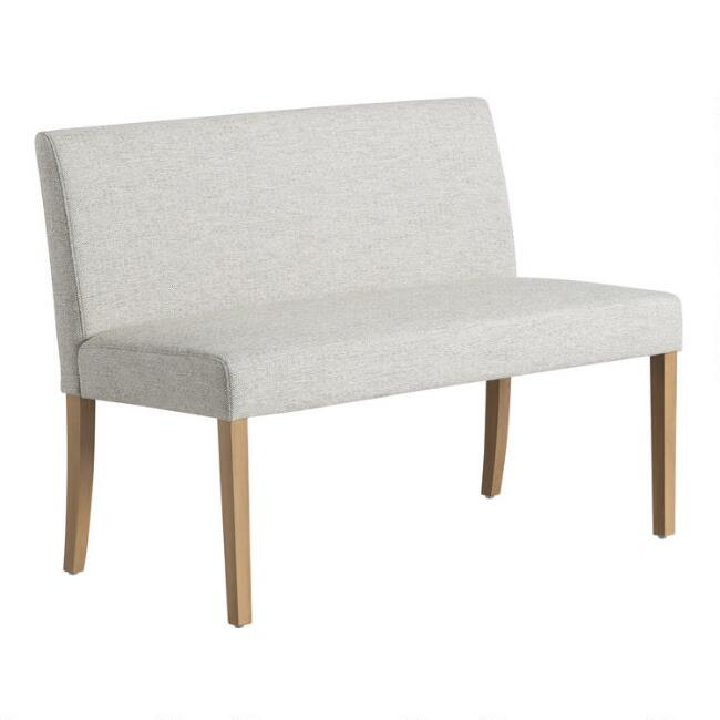 Gray Fletcher Upholstered Dining Bench