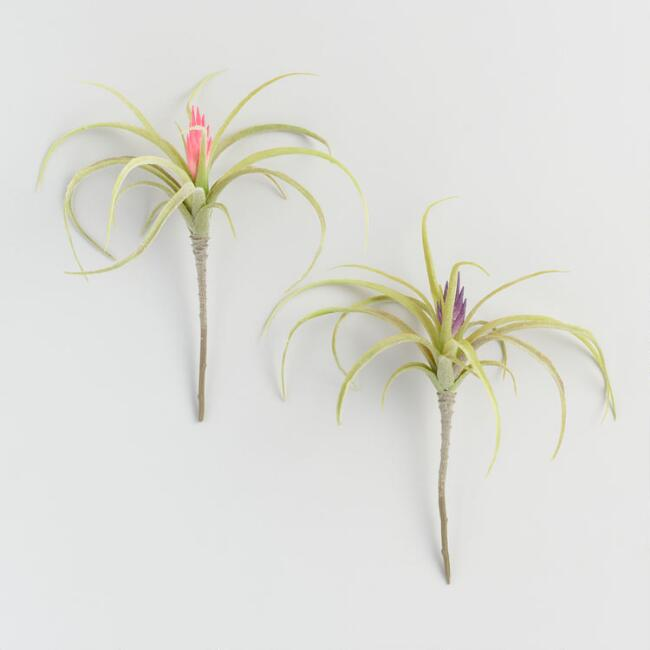 Faux Flowering Air Plant Picks Set of 2