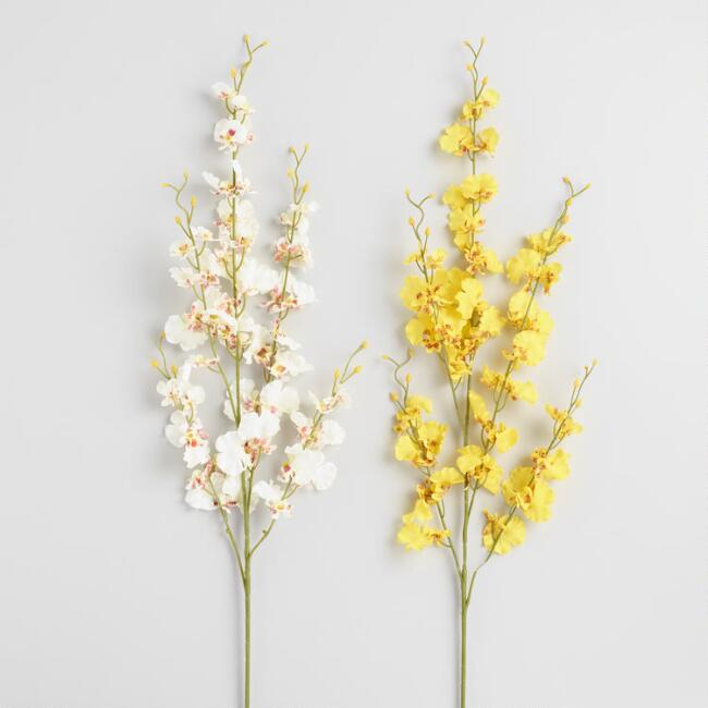 Faux Dancing Lady Orchid Sprays Set of 2