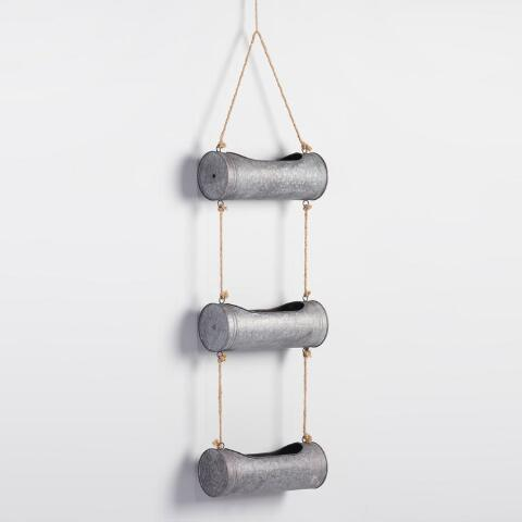 Triple Tier Galvanized Metal Wall Planter World Market