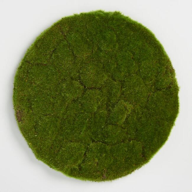 Round Mossy Tabletop Mat