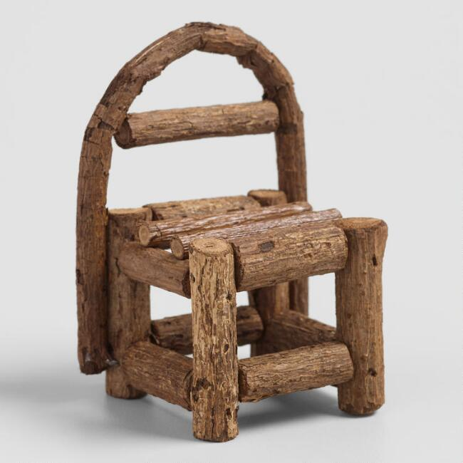 Twig Fairy Garden Chairs Set of 2