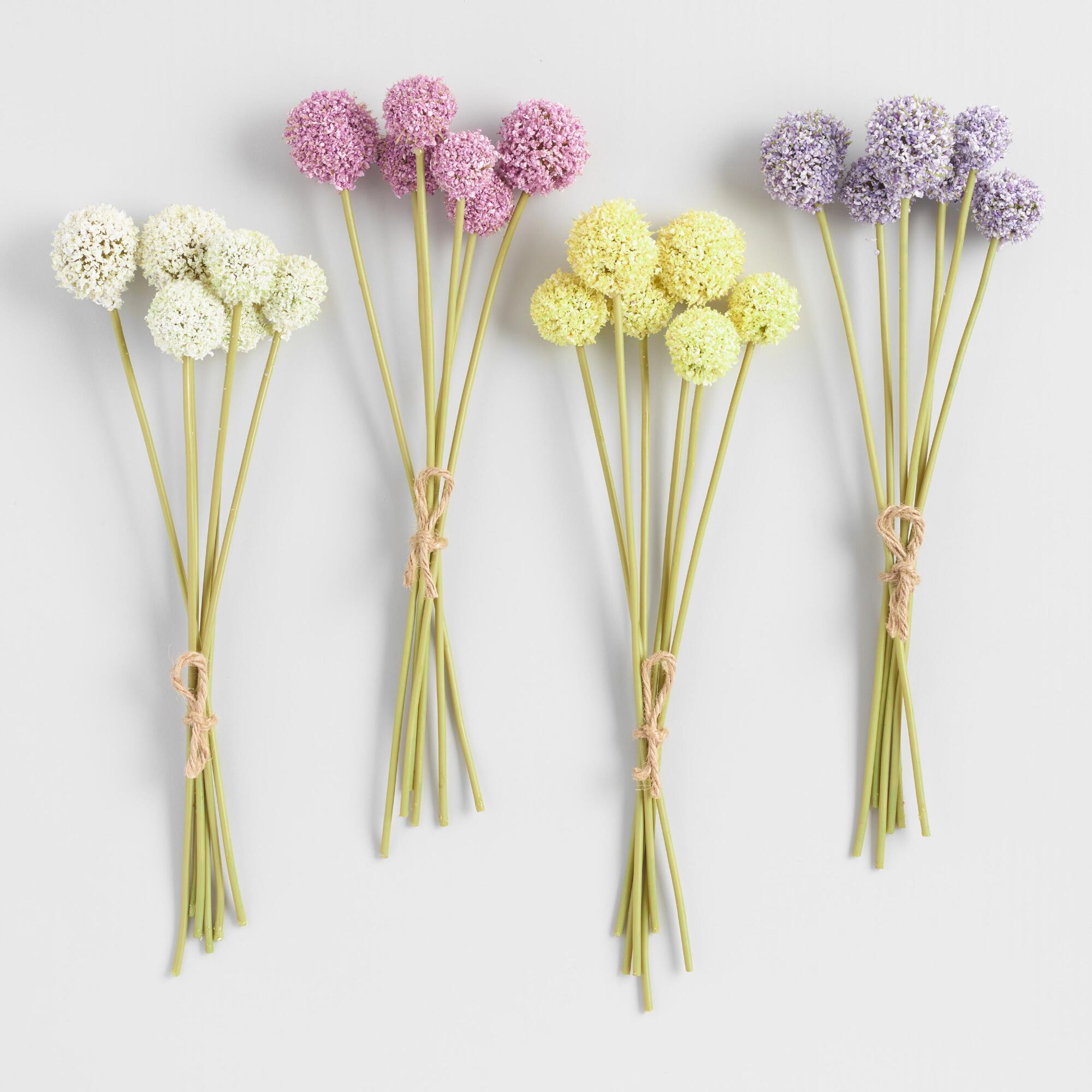 Mini Faux Allium Bundle Set of 4 by World Market