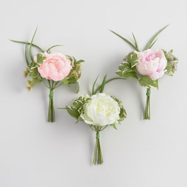 Faux Peony Mixed Bundles Set of 3
