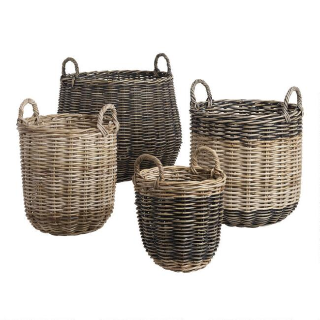 Indonesian Kubu Celeste Tote Basket Collection