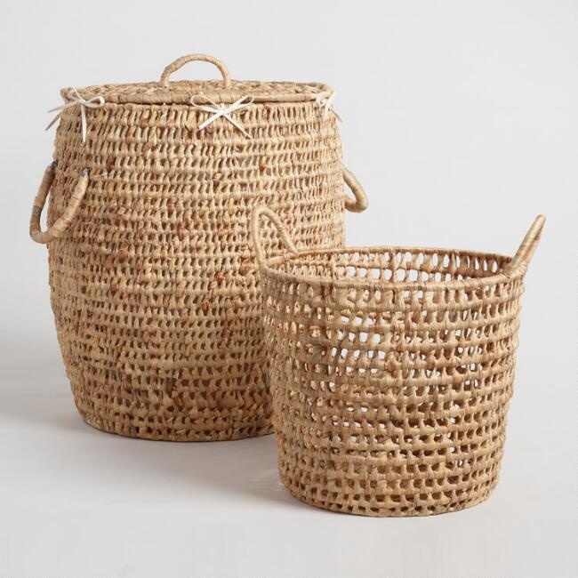 Natural Hyacinth Georgia Basket Collection