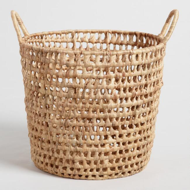 Natural Hyacinth Georgia Tote Basket