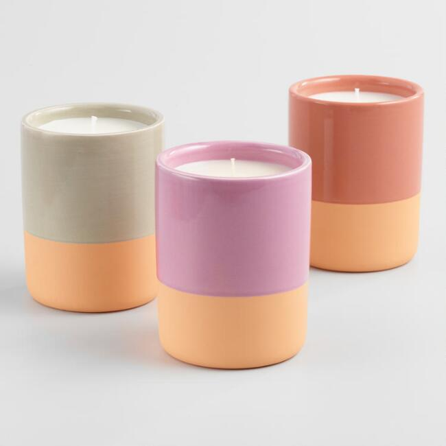 Terracotta Filled Jar Candle Collection