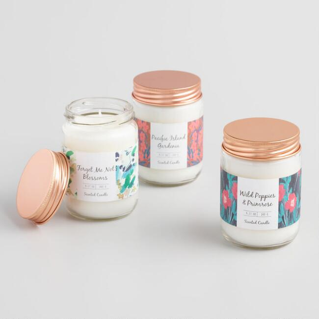 Floral Filled Jar Candle Collection