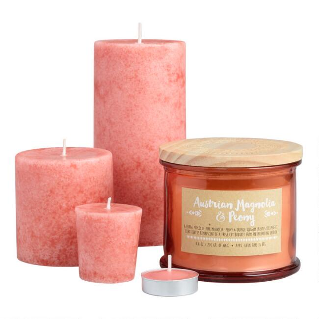 Austrian Magnolia and Peony Candle Collection