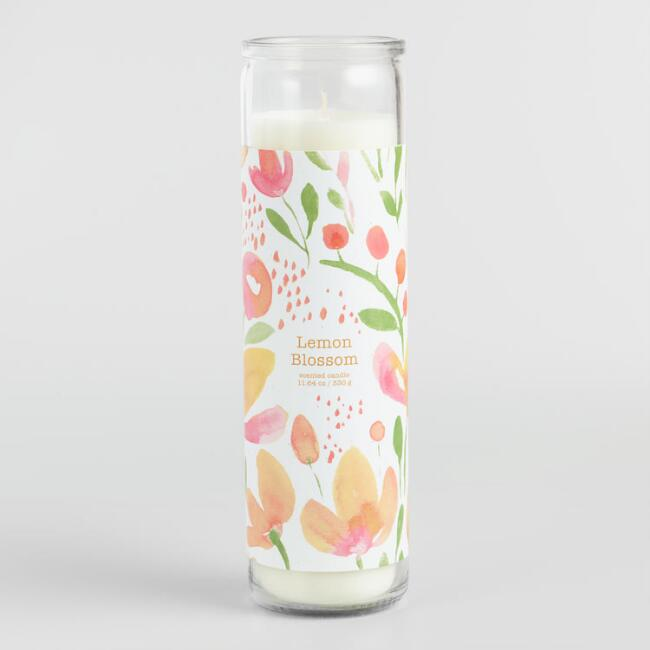 Lemon Blossom Tall Filled Candle