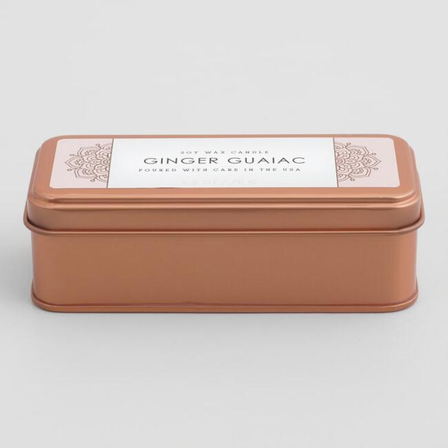 Ginger and Guaiac Copper Tin Travel Candle